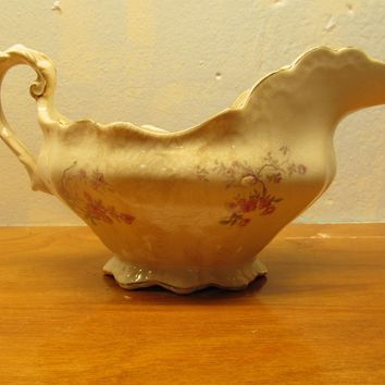 Early 1900's or Late 1800's Buffalo Pottery Gravy Boat.