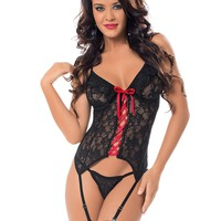 Lustful Lacey Bustier Set