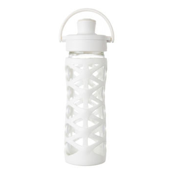 LIFEFACTORY 16oz GLASS BOTTLE WITH ACTIVE FLIP CAP *PREMIUM COLLECTION*
