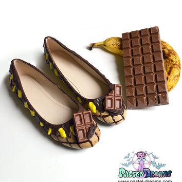 drippy icecream flats custom made shoes one of the kind, Pastel Goth, Fairy Kei, Kawaii,cute LARGE SIZES AVAILABLE!