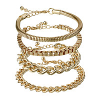 ASOS | ASOS Pack of Four Chain Bracelets at ASOS