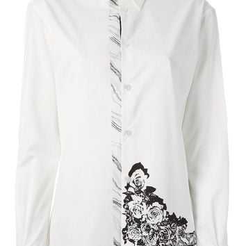 Anthony Vaccarello X Versus Versace rose print shirt