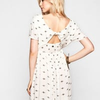 Billabong Glass Petals Dress Cream  In Sizes