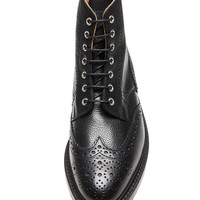 Wingtip Leather Boots in Black