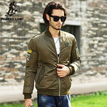 new fashion duck down winter jackets men clothing parka men Thick army green military style down coat male