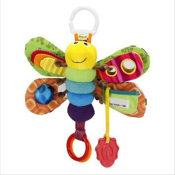 DCCKL72 Baby Girl/Boy 0-12 Month Toys Stroller/Bed Hanging Butterfly/Bee Handbell Rattle/Mobile Teether Education Stuffed/Plush Kid Toys