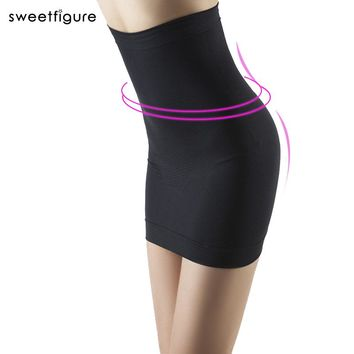 Women Seamless Slimming package hip Dress Tube Control Slips Half Shapwear Abdomen Sexy Beauty Seamless wild bottoming