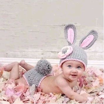 Hot Sale Hand Woven Character Photography Clothes Newborn Baby Pictures Baby Hat Crochet Wild Children Photo Props Free Shipping