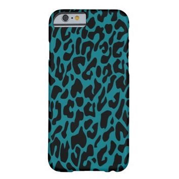 Blue & Black Animal Print Barely There iPhone 6 Case