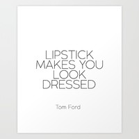 Bedroom Wall Decor Fashion Art Print Tom Ford Fashion Print Fashion Wall Art TOM FORD QUOTE  Art Print by MichelTypography