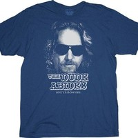 The Big Lebowski Dude Abides Licensed Movie Adult T Shirt