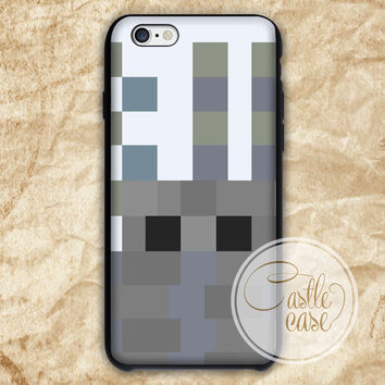 Minecraft silverfish Black White iPhone 4/4S, 5/5S, 5C Series Hard Plastic Case