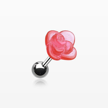 UV Flower Cartilage Tragus Barbell