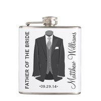 FATHER OF THE BRIDE WEDDING FAVOR FLASKS