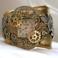 Steampunk inspired Timeless Cuff by steamheat on Etsy