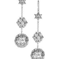 Solange Azagury-Partridge | Tri-Star 18-karat white gold drop earrings | NET-A-PORTER.COM