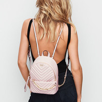Pebbled V-Quilt Small City Backpack - Victoria's Secret
