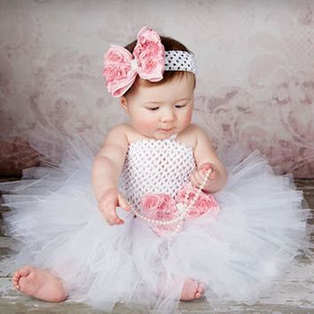 Baby Girl's Princess Tutu Dress with Headband