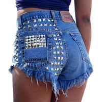 High waist denim shorts for Women Ripped jeans shorts Women's denim shorts summer 2018  sexy jesns shorts hot pants female AI101