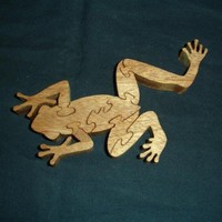 Handcrafted Mahogany Frog Puzzle 7pcs. | KevsKrafts - Woodworking on ArtFire