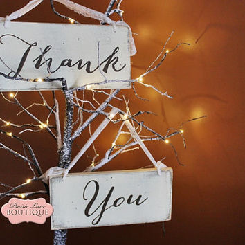 Wedding Signs, Thank You with Mr. & Mrs., Photo Prop Signs, Wedding Photos, Reception Signs,6 X 12 inches, 2 signs, 2-sided, Vintage lace