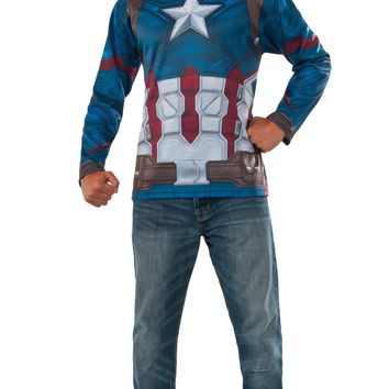 Rubies Captain America Civil War Captain America Costume Top and Mask Multi One Size