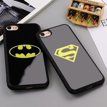 Fashion Batman Superman Phone Cover for iPhone 7 6 6s Plus 5 5s Cases