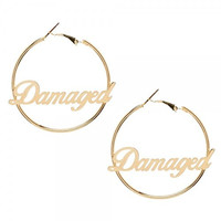 SUICIDE SQUAD Harley Quinn Damaged Hoop Earrings
