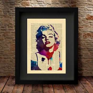 Marilyn Monroe, Marilyn Monroe Watercolor, Marilyn Monroe Poster, Watercolor Print, Marilyn Monroe Poster, Celebrity Portraits Wall Decor-51
