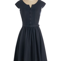 ModCloth 50s Long Cap Sleeves Fit & Flare Mix in the Moxie Dress