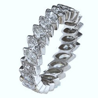 3.80ct Marquise Diamond Eternity Ring 18kt White Gold   JEWELFORME BLUE