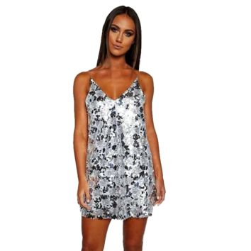 V-Back Disco Ball Dress