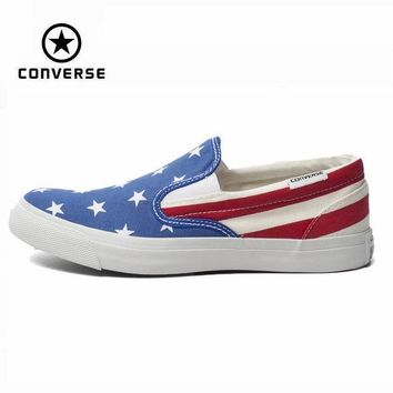 CREYUG7 Original Converse National Flag low men/women's sneakers