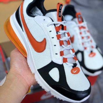 KUYOU N464 Nike Air Max 270 Futura Mesh Breatable Cushion Running Shoes Orange White Black