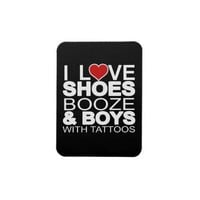 Love Shoes Booze Boys with Tattoos Rectangular Magnets from Zazzle.com