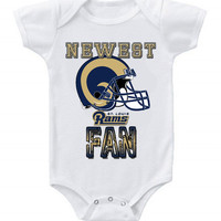 NEW Football Baby Bodysuits Creeper NFL St Louis Rams