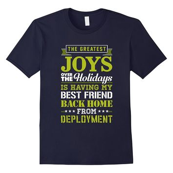 Military Best Friend TShirt Christmas Gift Deployed Soldier