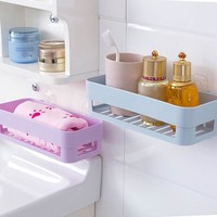 bathroom shelf Self-adhesive kitchen storage box organizer toilet bathroom storage rack wall shelf