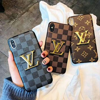 LV Louis Vuitton Hot Sale Classic Mobile Phone Cover Case For iphone 6 6s 6plus 6s-plus 7 7plus 8 8plus X XsMax XR