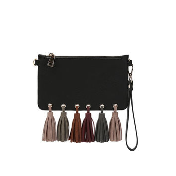 Suri Black Wristlet/ Crossbody