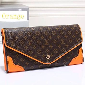 Perfect LV Women Leather Zip Wallet Purse