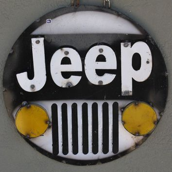 """JEEP 4x4 Recycled Metal Sign 15 1/2""""x15 1/2""""x1 1/4"""""""