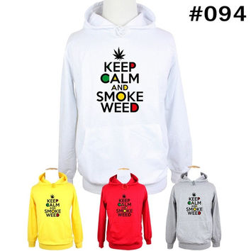 KEEP CALM AND SMOKE WEED Birthday Family Custom Vacation Personalized Design Pattern Men's Women's Girl's Boy's Hoodie Sweatshirt Hoody Tops#WM094 = 1931690628