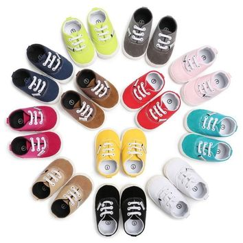 0-18M Cotton Sports Shoes Baby Boy Girl Infant Prewalker Crib Sandals US Stock