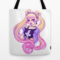 Pastel Goth Usagi (Glasses OFF) Tote Bag by Gunkiss