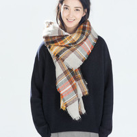 Autumn Blend Plaid Blanket Scarf (Pre-Order)