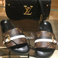 shosouvenir LV Louis Vuitton Flat bottom Sandals