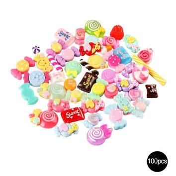 Slime Charm Mixed Resin Candy Beads Mucus Sweets Bead Making Supplies DIY Collage Crafts for chlid>3 Y