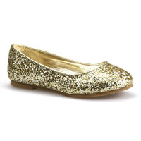 Light Gold Glitter Fashion Flat | something special every day