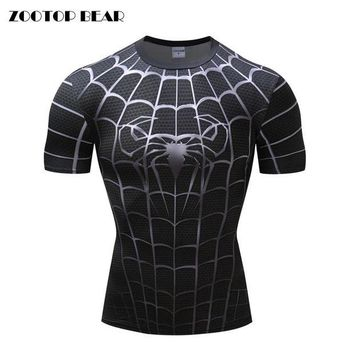 DCCKU7Q Spiderman 3D Print t shirts Men Short Sleeve